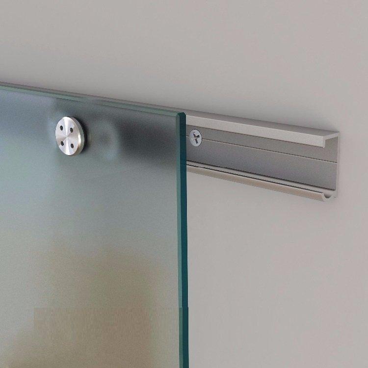 Aluminum Flat Rail for Glass Sliding Barn