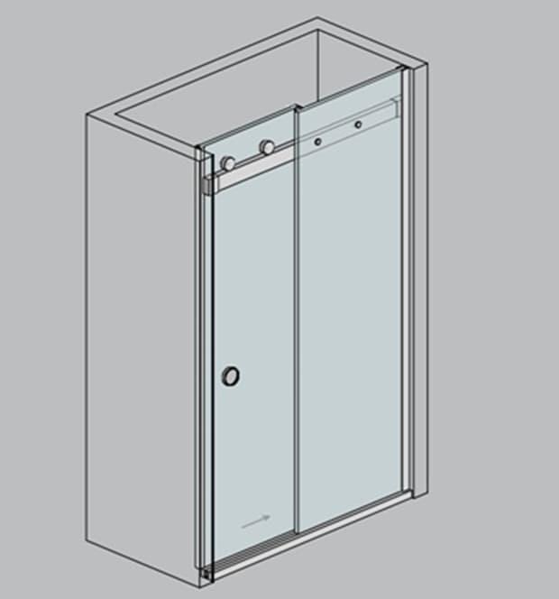 Cabina de dus tip nisa cu usi culisante ST01 | DUSRMDST01